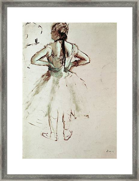 Dancer Viewed From The Back Framed Print