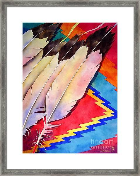 Dancer's Feathers Framed Print