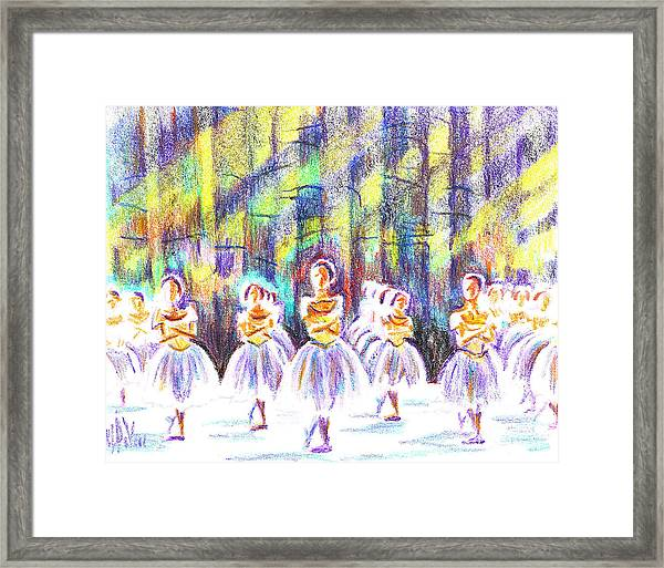 Dancers In The Forest Framed Print