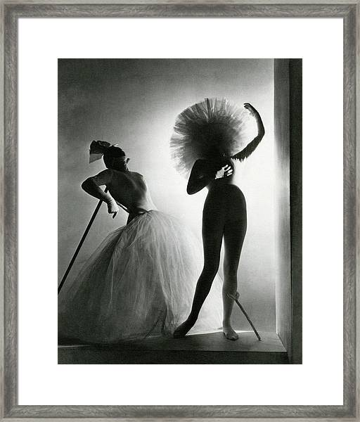 Dancers Posing In Costumes From Salvador Dali's Framed Print