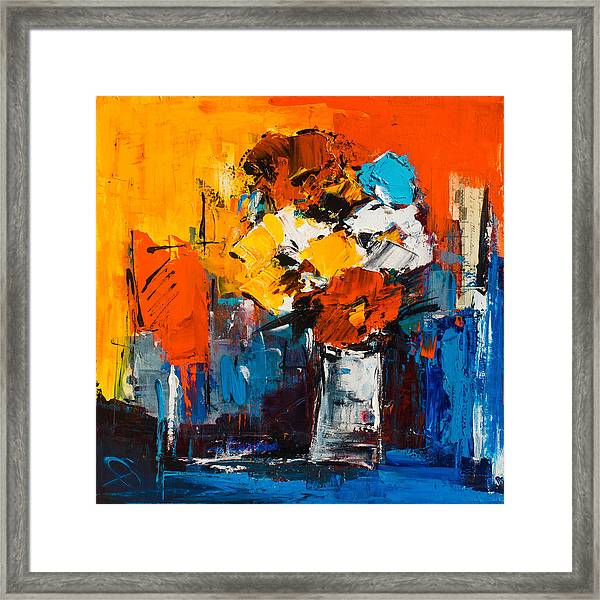 Framed Print featuring the painting Dancing Colors by Elise Palmigiani