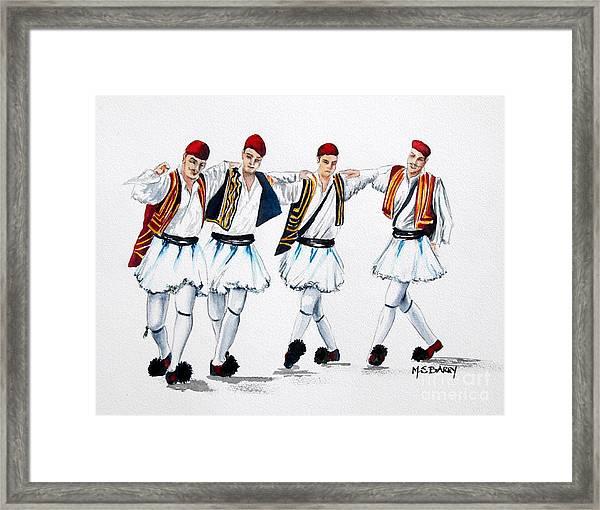 Dancing Evzones Framed Print
