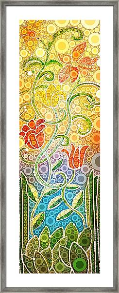 Dancing Flowers Framed Print