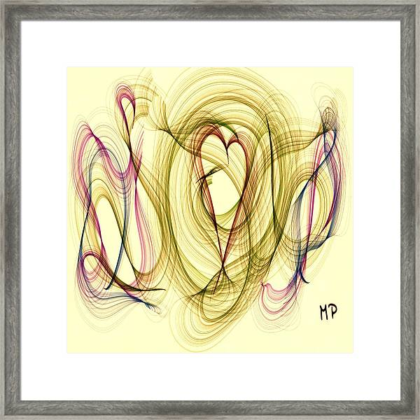 Dancing Heart Framed Print