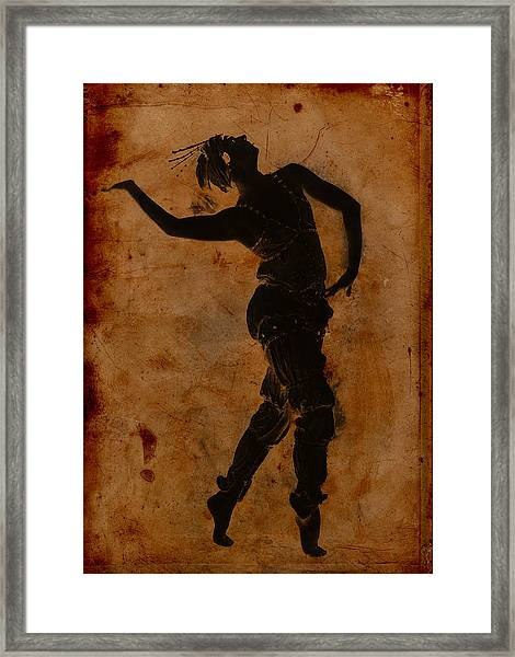 Dancing In Greek Framed Print