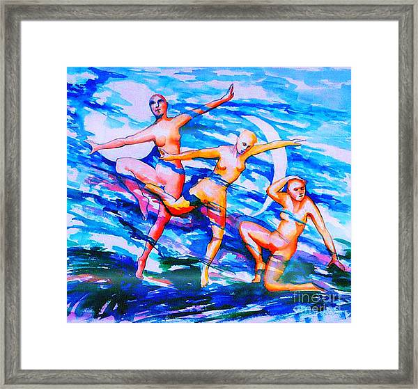 Dancing In Moonlight Framed Print