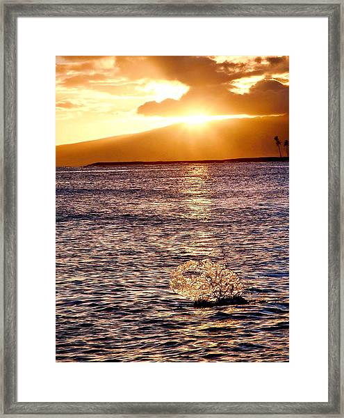 Dancing Water Framed Print