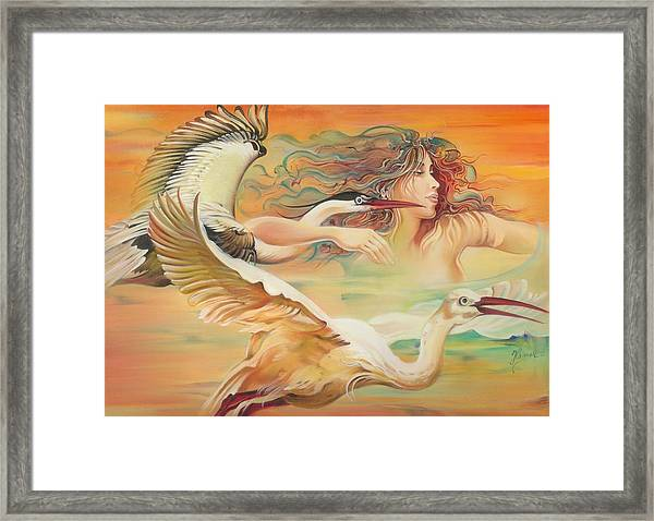 Dancing With Birds Framed Print