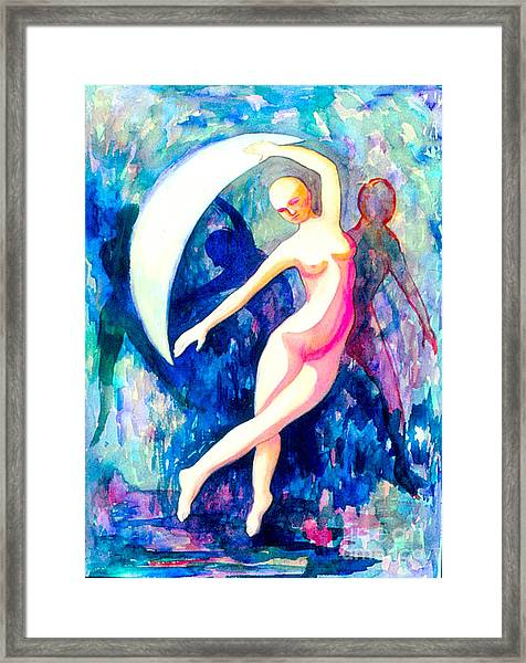 Dancing With Shadow Self Framed Print