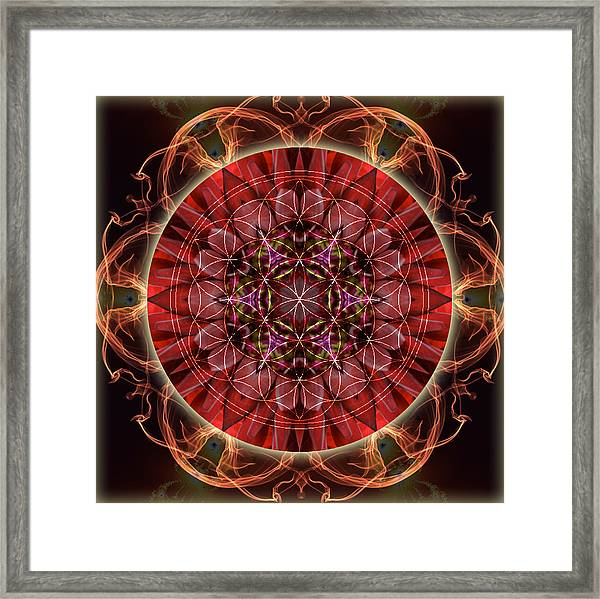 Dancing With The Solar Flares Framed Print