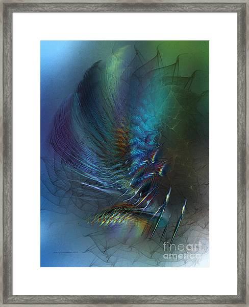 Dancing With The Wind-abstract Art Framed Print