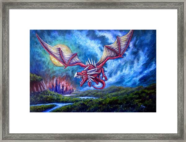 Danger In The Sky Framed Print