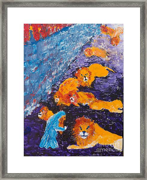 Daniel And The Lions Framed Print