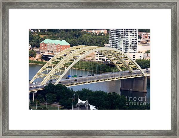 Daniel Carter Beard Bridge Cincinnati Ohio Framed Print by Paul Velgos