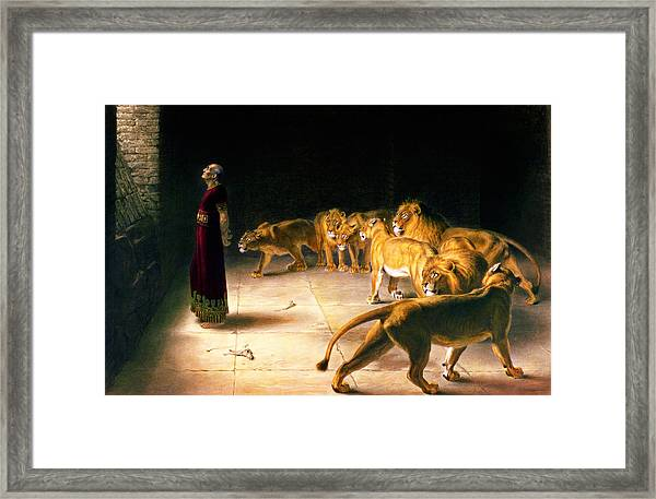 Daniel's Answer To The King Framed Print