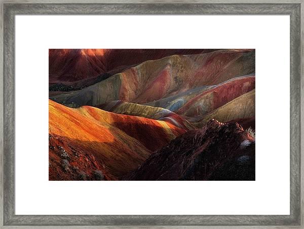 Danxia Landforms Framed Print