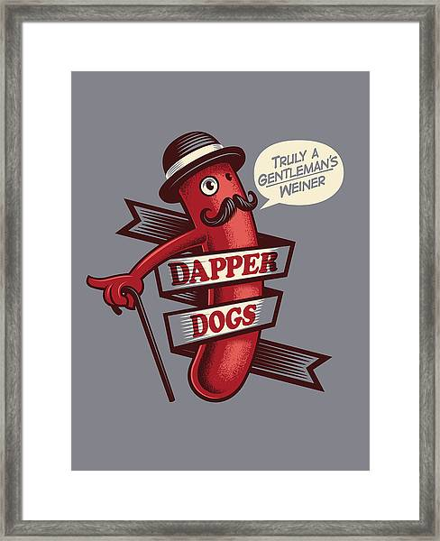 Dapperdogs Framed Print