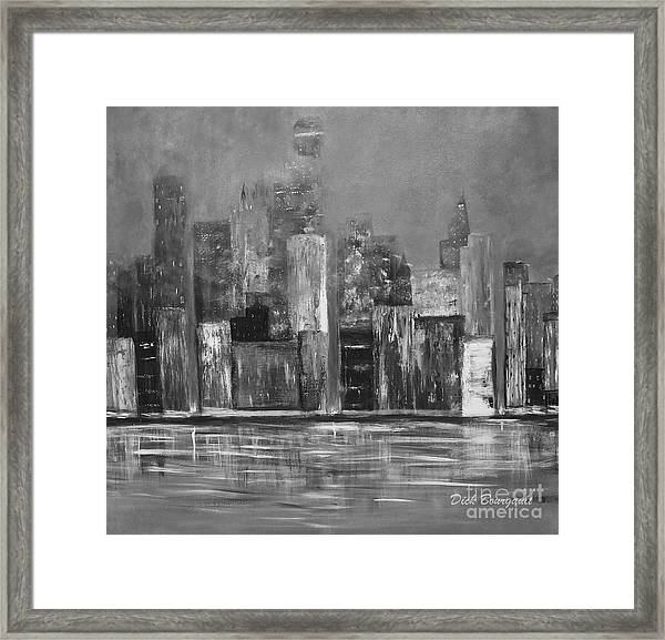 Dark Clouds Over The City Framed Print