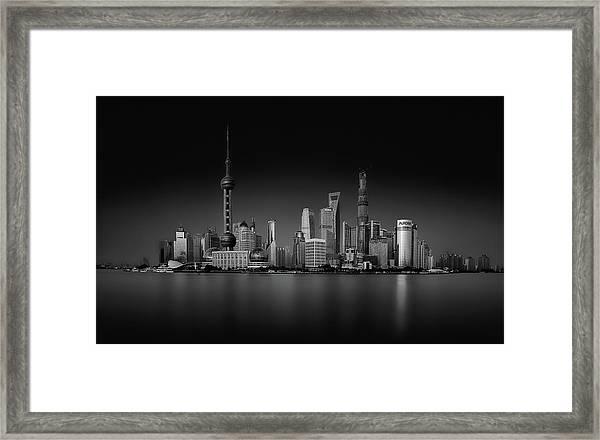 Dark Pudong Framed Print