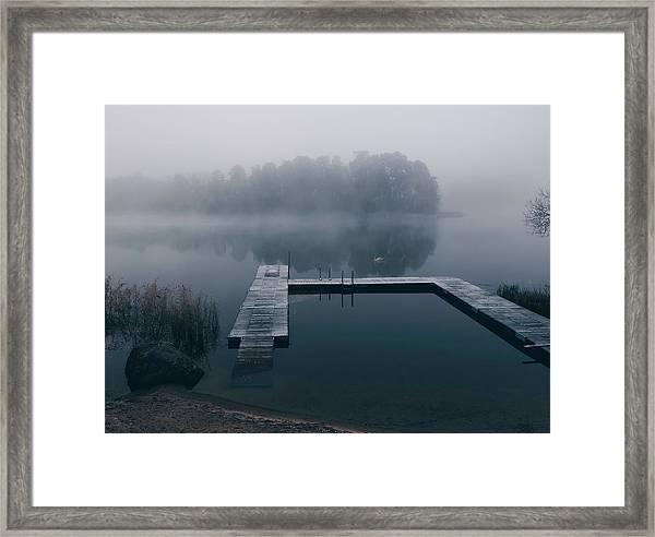 Dark Reflections Framed Print