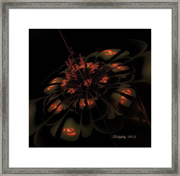 Dark Shimmer Framed Print
