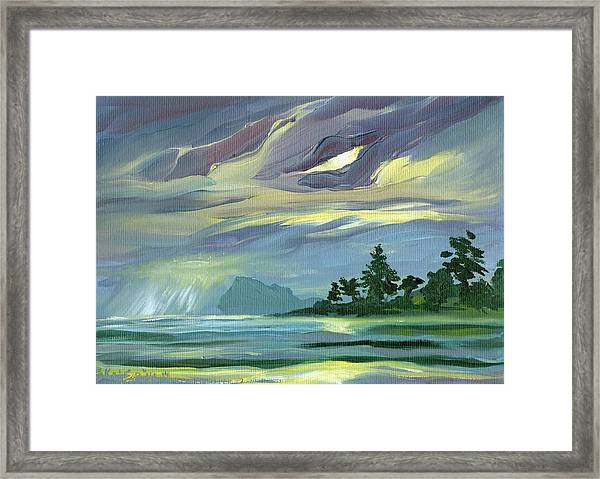 Dark Sunrise Skyscape Framed Print