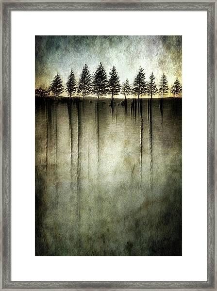 Dark Water Stands Over Me Framed Print
