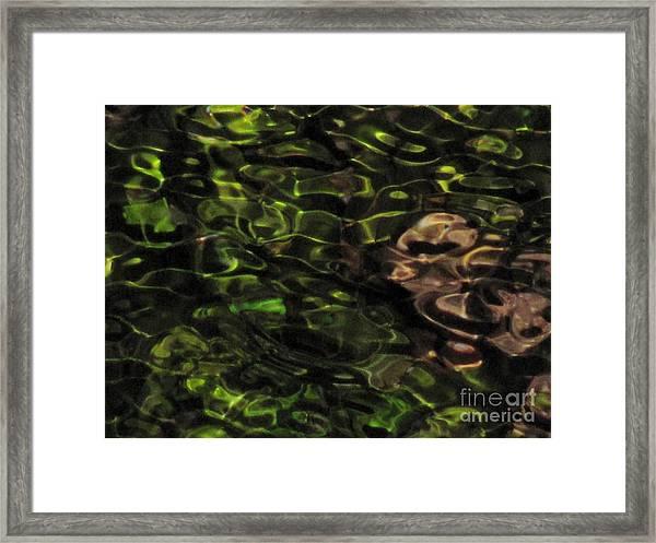 Dark Watery Green Framed Print