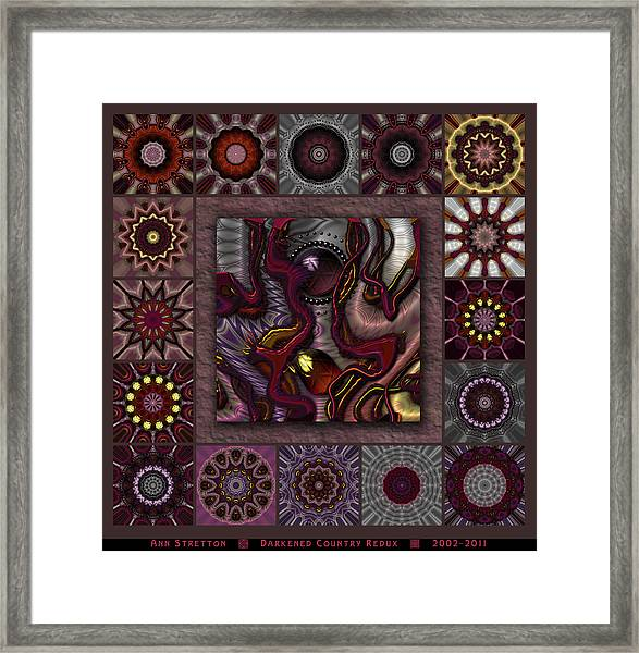 Darkened Country Redux Framed Print