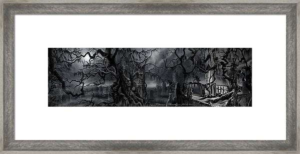 Darkness Has Crept In The Midnight Hour Framed Print