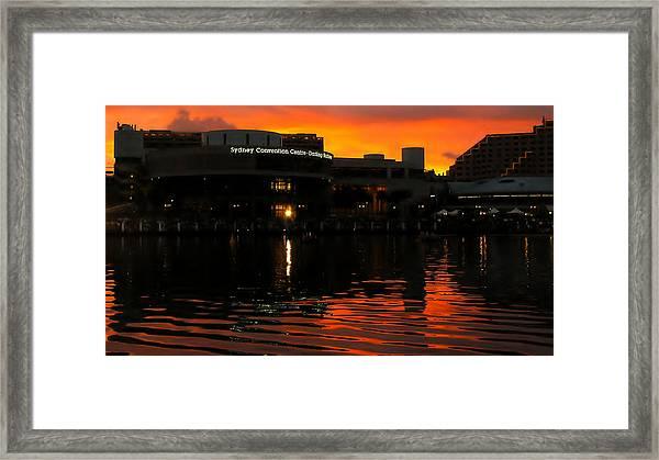 Darling Harbour Evening Framed Print
