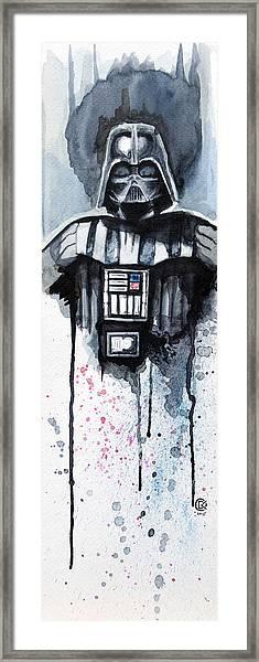 Darth Vader Framed Print by David Kraig