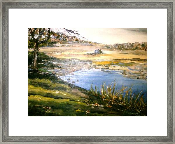 Framed Print featuring the painting Dartmouth Landscape by Ray Khalife