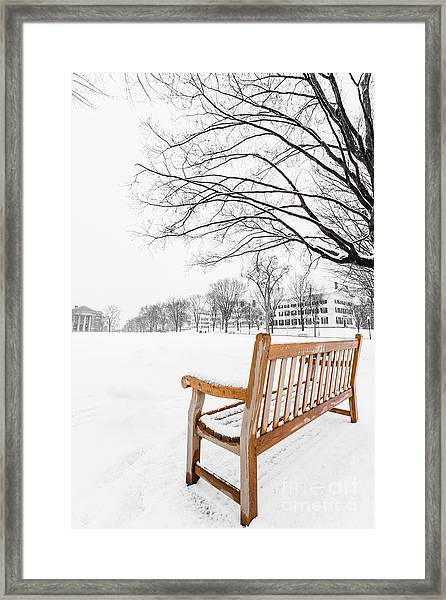 Framed Print featuring the photograph Dartmouth Winter Wonderland by Edward Fielding