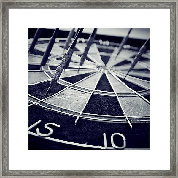 Darts Anyone Framed Print