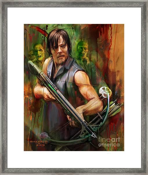 Daryl Dixon Walker Killer Framed Print