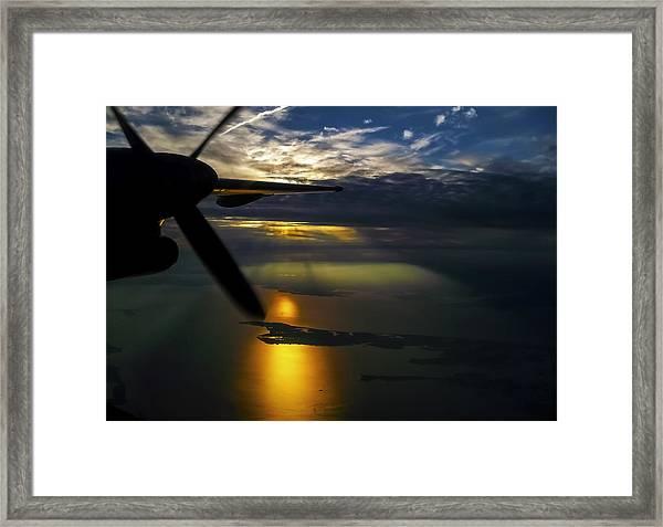 Dash Of Sunset Framed Print