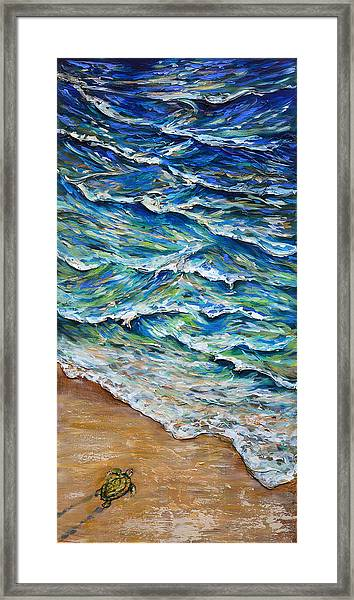 Dash To The Tide Framed Print