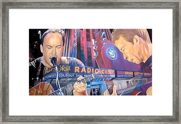 Dave Matthews And Tim Reynolds Live At Radio City Framed Print