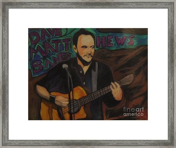 Dave Matthews Framed Print