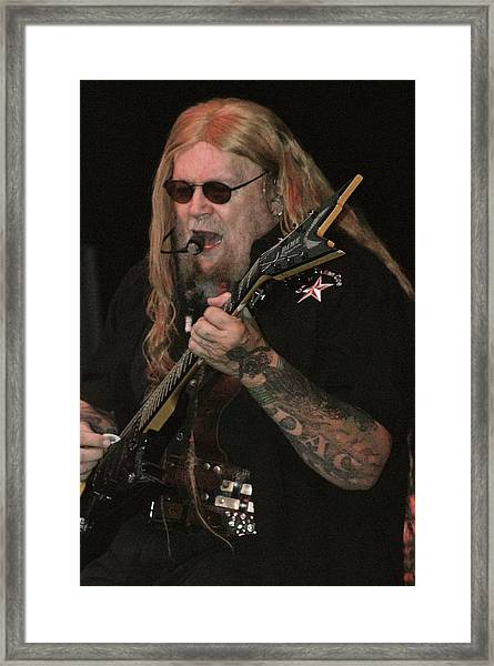 David Allan Coe Framed Print by Joe Bledsoe