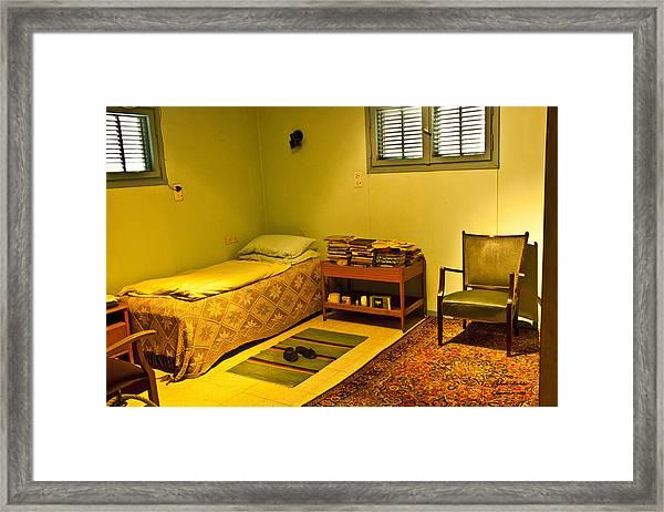 David Ben-gurion - His Bedroom Framed Print by Itzhak Richter