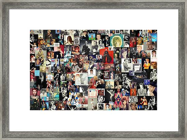 David Bowie Collage Framed Print