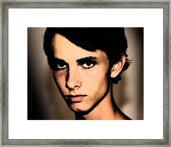 Framed Print featuring the photograph David Darko by Michael Taggart