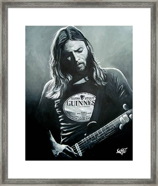 David Gilmour Framed Print
