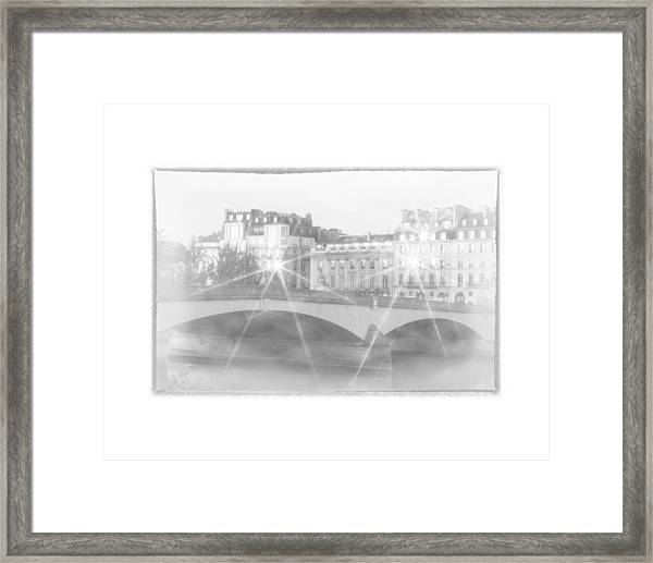 Dawn Along The Seine Framed Print