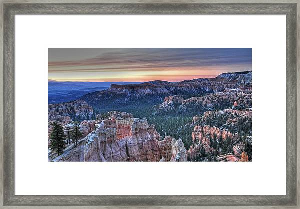Dawn At Bryce Canyon Framed Print