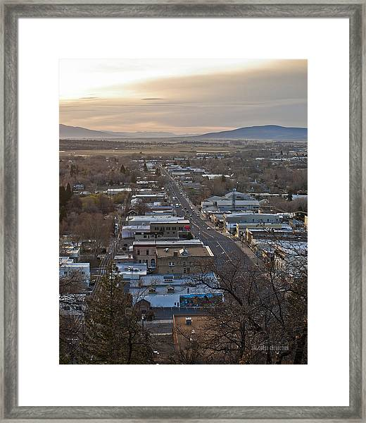 Dawn At Inspiration Point Framed Print by The Couso Collection