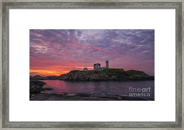 Dawn At The Nubble Framed Print