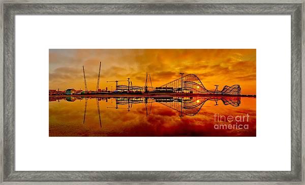 Dawn At Wildwood Pier Framed Print